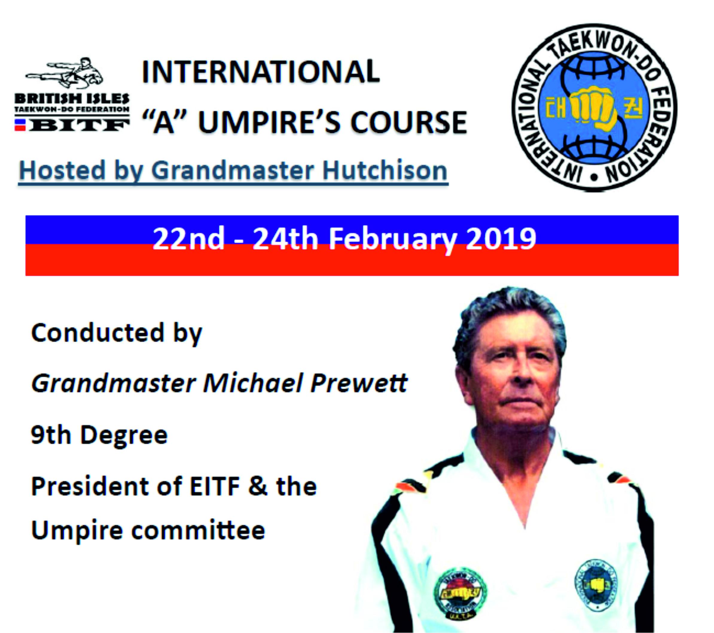 ITF International Umpire Course, Scotland UK 2019