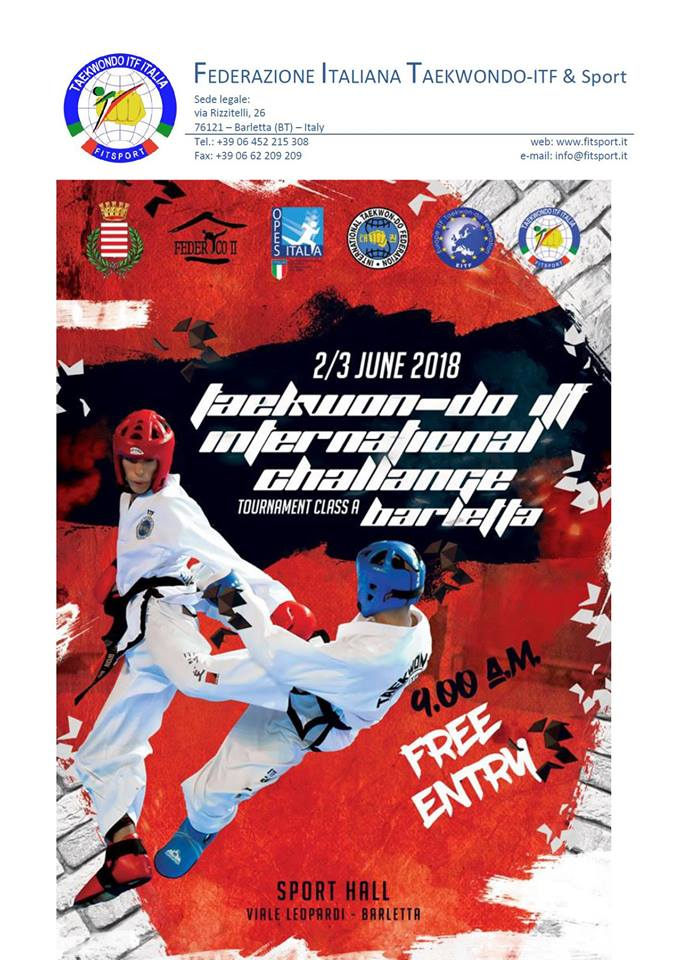 Taekwon-do ITF International Challenge, Barletta, Italy