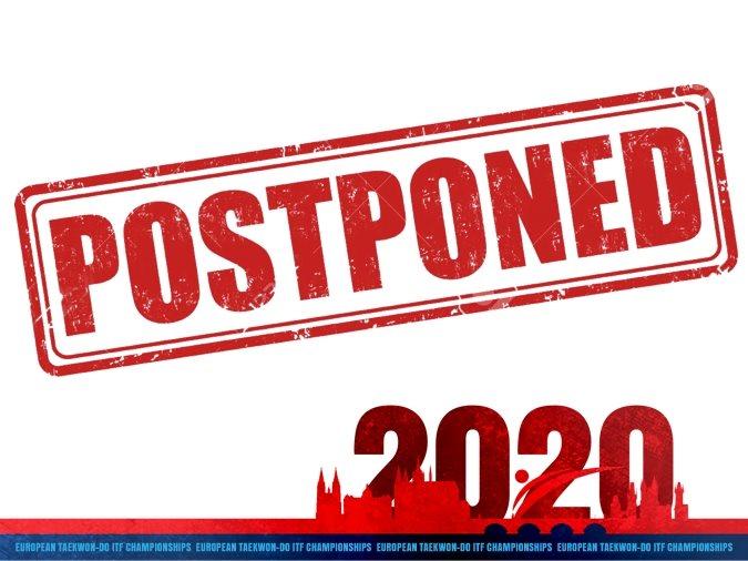 European Taekwon-Do ITF Championships 2020 postponed!